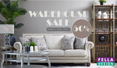 Fella Design Warehouse Sales Banner